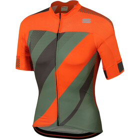 Sportful Bodyfit Pro 2.0 X Jersey Men Dry Green/Orange SDR/Red